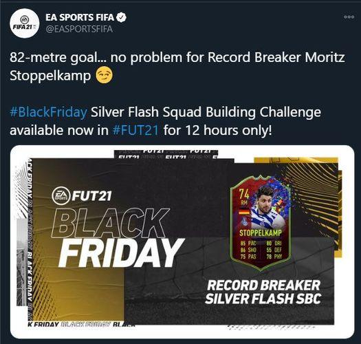 FIFA 21 Silver Flash Squad Building Challenge Record Breaker Stoppelkamp
