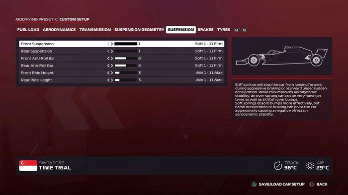 F1 2020 Singapore GP Suspension