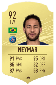 Neymar-fut-base-card