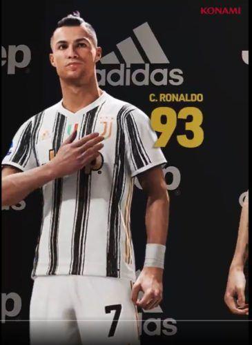 ronaldo 93 rating pes 2021