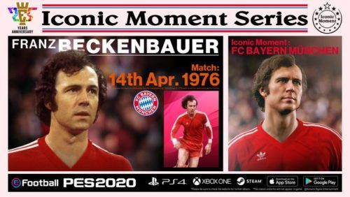 franz beckenbauer pes 2020 iconic moment series