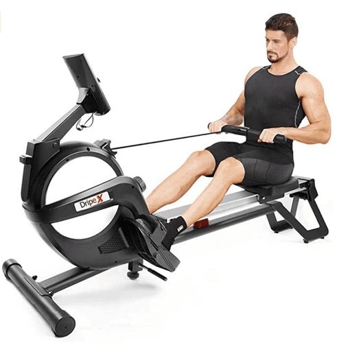 Best Rowing Machine 2021 Dripex product image of aluminum black machine