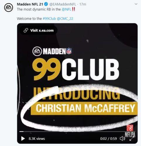madden 21 mccaffrey 99 ovr 1