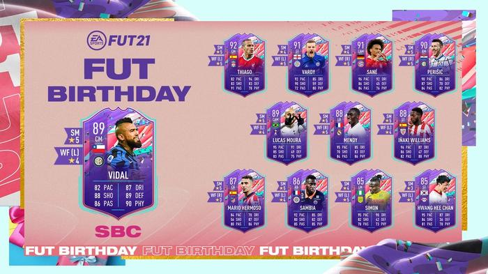 FIFA 21 FUT 21 Ultimate Team FUT Birthday SBC Arturo Vidal