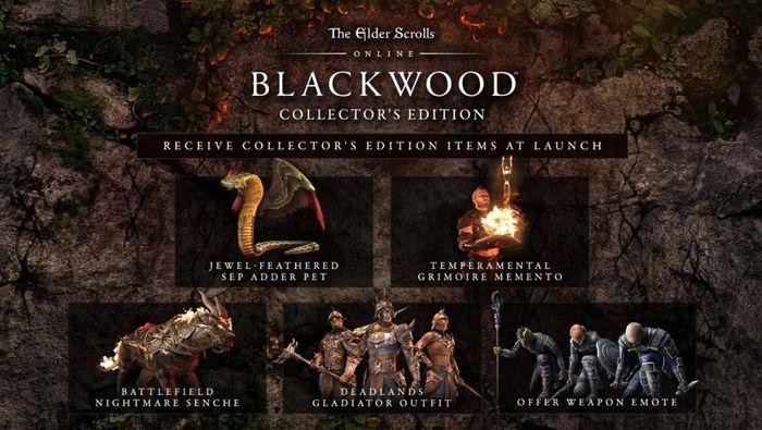 Elder Scrolls Online Blackwood Edition Gates of Oblivion Bonus Items