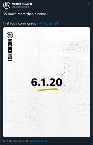 Madden 21 first look gameplay trailer announcement date