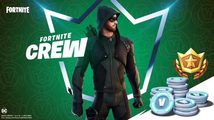 Fortnite Crew Pack January 2021 Green Arrow