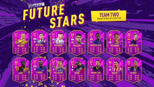 future stars team 2 full squad