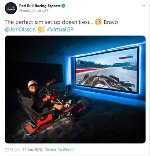 Jon Olsson Virtual GP setup Canada Red Bull