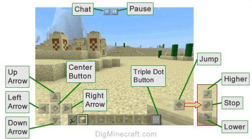 minecraft pocket edition gameplay controls
