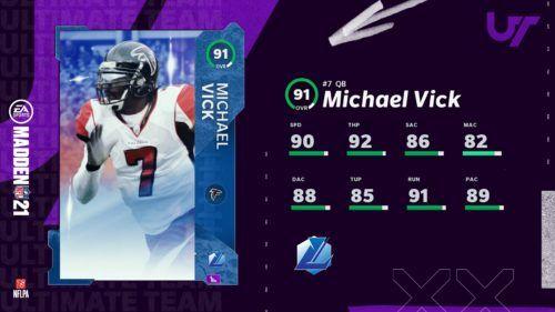 Michael Vick Madden 21 Ultimate Team MUT 21