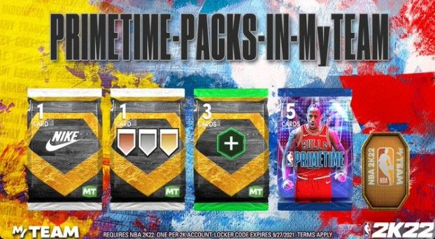 The Primetime Pack Locker Code in NBA 2K22
