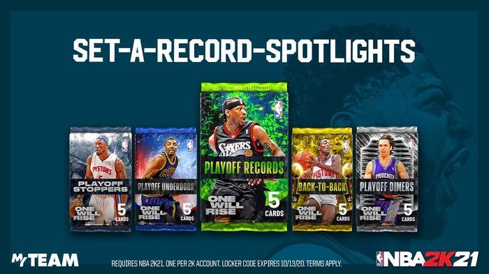 NBA 2K21 MyTEAM Playoff Sets locker code 1