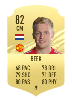 fifa 22 Donny van de Beek prediction 82