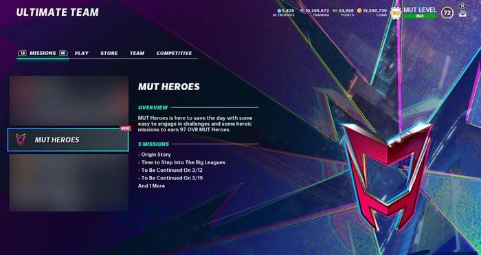 Madden 21 MUT Heroes Ultimate Team