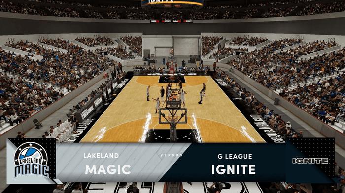 NBa 2K22 g league team ignite lakeland magic