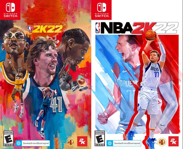 NBA 2K22 on Nintendo Switch Cover Standard Edition 75th Anniversary