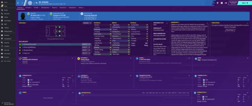 Otavio's starting Football Manager 2020 attributes and information.