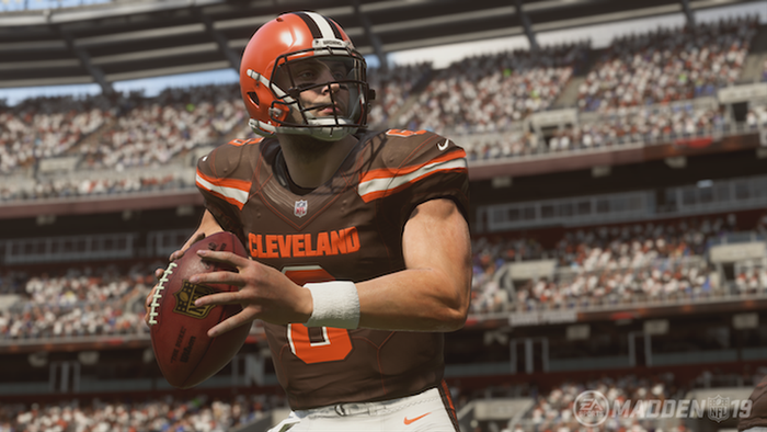 TOUGH HAND: Baker Mayfield is facing some bad luck losing his star RB