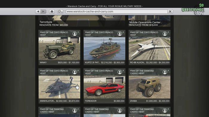GTA Online Cayo Perico New Vehicles