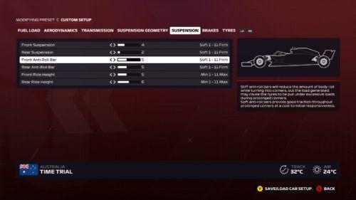F1 2020 Australia Suspension