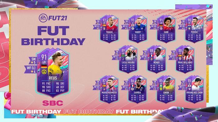 FIFA 21 FUT Birthday SBC Marco Reus Card